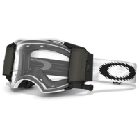 Oakley Airbrake MX Race Ready Roll-Off Goggles - Matte White Speed/Clear