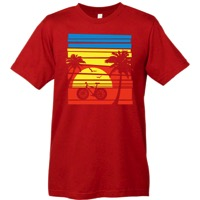 Mechanical Threads Bike Paradise T-Shirt - Red