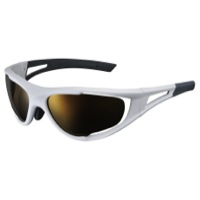 Shimano S50X Sunglasses - Metallic White/Brown Mirror