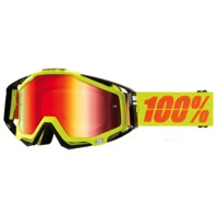 100% RaceCraft Goggles - Neon Sign/Mirror Red Lens