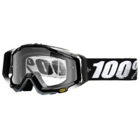 100% RaceCraft Goggles - Abyss Black/Clear Lens