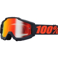 100% Accuri Goggles - Gunmetal/Mirror Red Lens