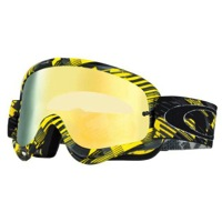 Oakley MX O Frame Goggles - Digi Slash Yellow/24K Iridium