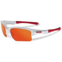 Oakley Quarter Jacket Sunglasses - Polished White/Fire Iridium