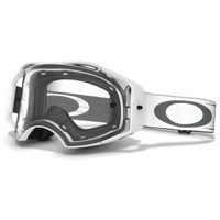 Oakley Airbrake MX Goggles - Black/White Retro Speed/Clear