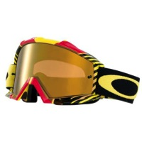 Oakley Proven MX Goggles - BioHazard Red Yellow/Fire Iridium