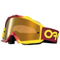 Oakley Proven MX Goggles - Factory Fade Red-Yellow/Fire Iridium