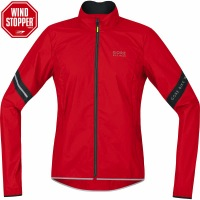 Gore Power AS Windstopper Cycling Jacket - Red/Black