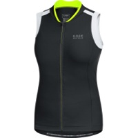 Gore Power 3.0 Lady Sleeveless Jersey - Black/White/Neon Yellow