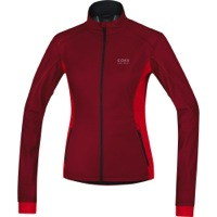 Gore Alp-X Windstopper Soft Shell Lady Jacket - Ruby Red/Red
