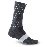 Giro Merino Seasonal Socks 2020 - Charcoal/White Dots