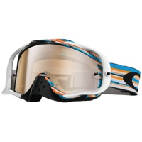 Oakley Crowbar MX Goggles - Glitch Blue/Orange/Black Iridium