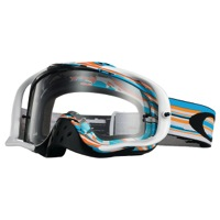 Oakley Crowbar MX Goggles - Glitch Blue/Orange/Clear