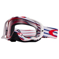 Oakley Crowbar MX Goggles - Nemesis Red/White/Blue/Clear Lens