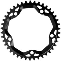 AbsoluteBlack Cyclocross Narrow Wide Round Rings - 5 x 130mm BCD