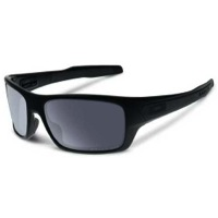 Oakley Turbine Sunglasses - Matte Black/Grey Polarized Lens