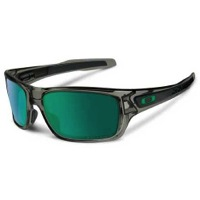 Oakley Turbine Sunglasses - Gray Smoke/Jade Iridium Polarized Lens