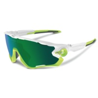 Oakley Jawbreaker Sunglasses - Polished White/Jade Iridium Lens