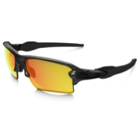 Oakley Flak 2.0 XL Polarized  Sunglasses - Matte Gray Smoke/Fire Iridium Polarized Lens