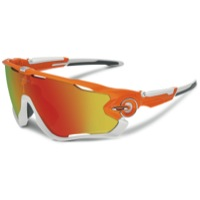 Oakley Jawbreaker Polarized Sunglasses - Atomic Orange/Fire Iridium Polarized Lens
