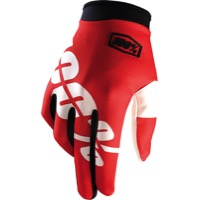 100% iTrack Gloves - Fire Red