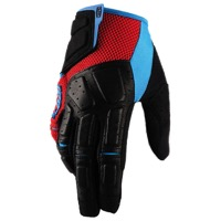 100% Simi Gloves - Red/Cyan