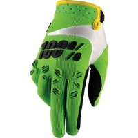 100% Airmatic Gloves - Lime Green