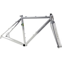 All-City Macho King Disc Frameset 2015 - Silver to White Fade