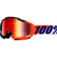 100% Accuri Goggles - Wilsonian/Mirror Red Lens