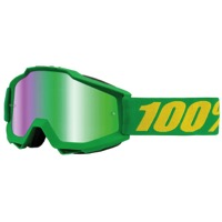 100% Accuri Goggles - Forrest Green/Mirror Green Lens
