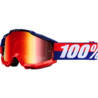 100% Accuri Goggles - Federal/Mirror Red Lens