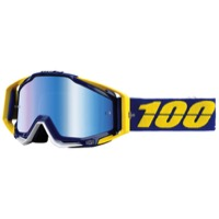 100% RaceCraft Goggles - Lindstrom/Mirror Blue Lens