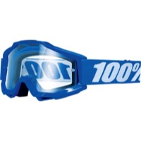 100% Accuri OTG Over The Glasses Goggles - Reflex Blue/Clear Lens