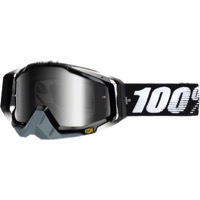 100% RaceCraft Goggles - Abyss Black/Mirror Silver Lens
