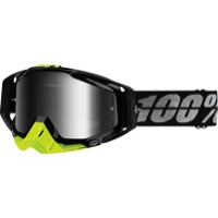 100% RaceCraft Goggles - Stealth/Mirror Silver Lens