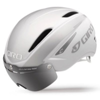 Giro Air Attack Shield Helmet 2017 - Matte White/Silver