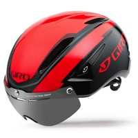 Giro Air Attack Shield Helmet 2017 - Bright Red/Black