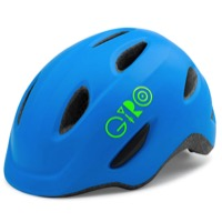 Giro Scamp Youth Helmet 2020 - Matte Blue/Lime