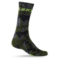 Giro Merino Seasonal Socks 2020 - Camo/Highlight Yellow