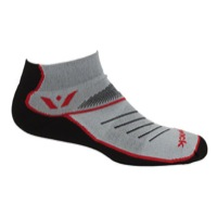 Swiftwick Vibe One Socks - Black/Red/Gray