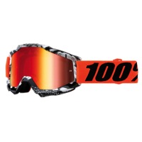 100% Accuri Junior Youth Goggles - Voltaire/Mirror Red Lens