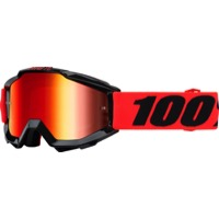 100% Accuri Junior Youth Goggles - Inferno/Mirror Red Lens