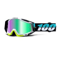 100% RaceCraft Goggles - St Barth/Mirror Green Lens