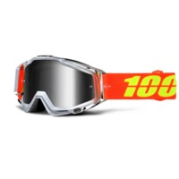 100% RaceCraft Goggles - Airstream/Mirror Silver Lens