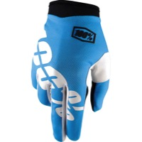 100% iTrack Gloves - Cyan