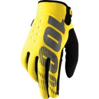 100% Brisker Gloves - Yellow