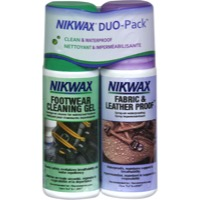 Nikwax Cleaning Gel/Fabric & Leather Proof Combo