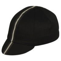 Pace Traditional Cycling Cap - Black/Black Reflective