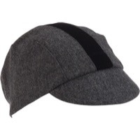 Walz Wool 3-Panel Cycling Cap - Gray/Black Racing Stripe