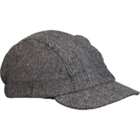 Walz Wool Urban Collection Cycling Cap - Black Herringbone
